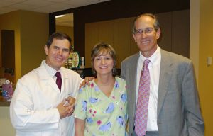 Dr. Vogt, Terry Kehr, with Ted Link